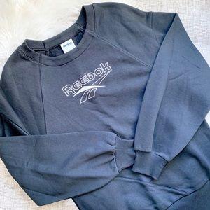 Reebok Black Logo Crewneck Sweatshirt | S